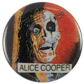 Alice Cooper - 'Trash' Button Badge
